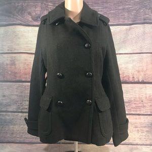 American Eagle pea coat women's medium Brown wool